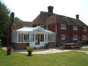 Classic Pine Wood Conservatory on a Grade 2 Listed Property